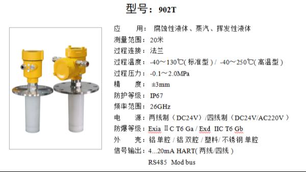 测量浓硫酸用什么样的雷达液位计——雷达液位计选型