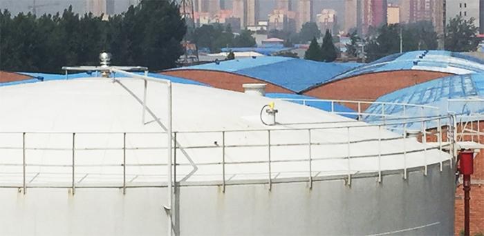 石家庄 测油 高频雷达HBRD902 测12米原油(带浮顶)-慧博新锐案例