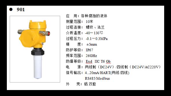 雷达液位计设计特点有什么